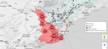 Ja està disponible el cercador de naus i solars amb informació de tots els municipis del Baix Llobregat
